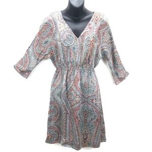 Zara Red/Blue/Orange Sheath Paisley Sheath dress